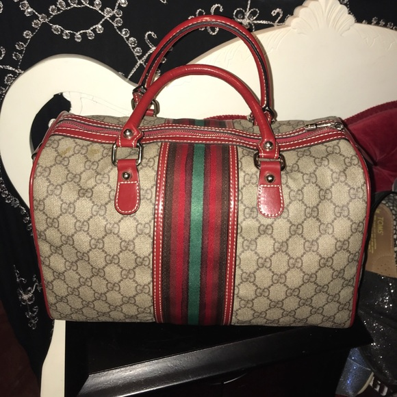 41be84962 Gucci Bags | Vintage Boston Web Speedy Doctor Bag | Poshmark