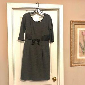Milly NY Satin Bow Detail 3/4 Sleeve Dress