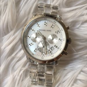 Michael Kors Stainless Steel Watch w/ Lucite Band