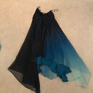 Halston Heritage atlantic multi ombré dress