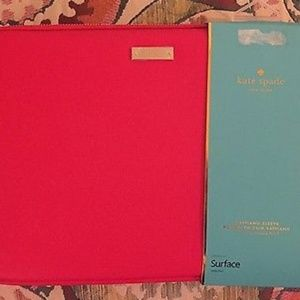 NWT Kate Spade Red Saffiano Sleeve Surface Pro 3