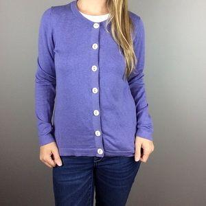 Boden purple button up cardigan