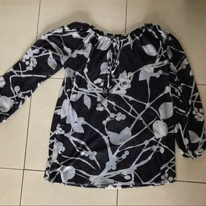 Sweet pea floral blouse