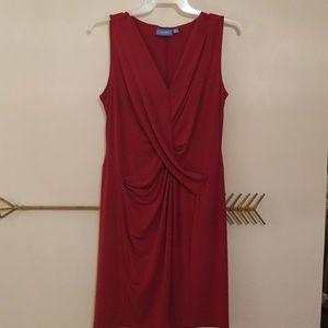 Burgandy sleeveless dress