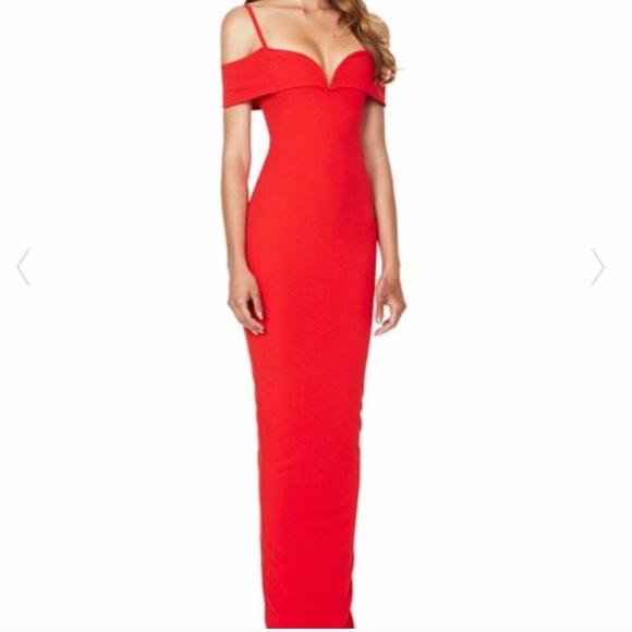 62b83e9752445 Nookie Dresses | Pretty Belle Cold Shoulder Gown Size Small | Poshmark