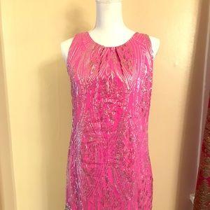Hale Bob Pink Sequined Dress