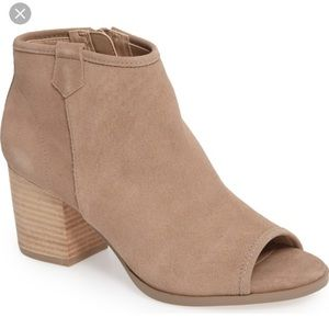 """Sole Society Peep Toe Suede Booties """"Bambi"""""""