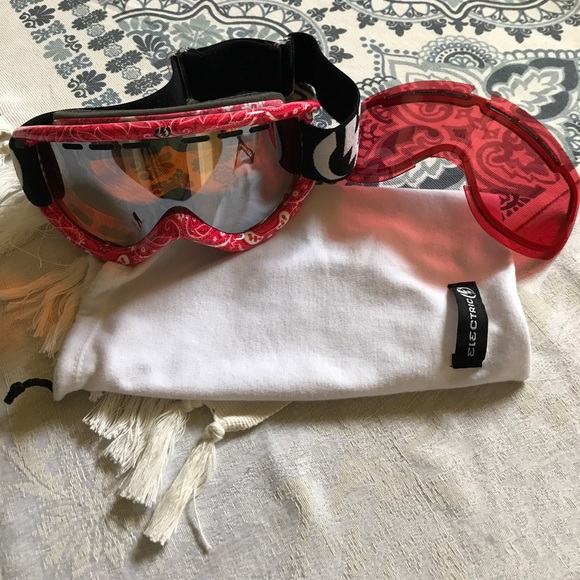 Electric Other Snowboard Goggles Red Bandana Print Poshmark