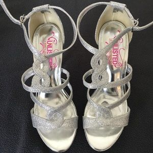 Unlisted silver heels