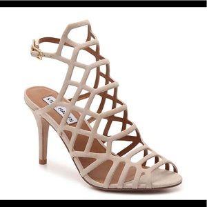 Steve Madden Flither cage nude tan sandal heels
