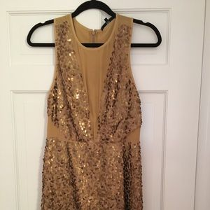 Tibi sequined mini dress!