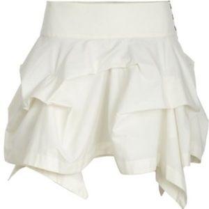 All Saints Hitch Mini Skirt in Chalk