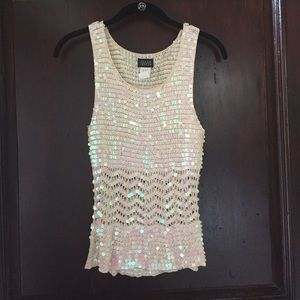 Sequined club top