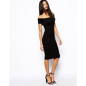 Classy Midi Bardot Dress
