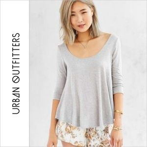 Kimchi Blue UO Grey Gray Shadow Scoopneck Top