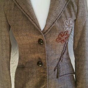 Wet Seal brown wool tweed blazer