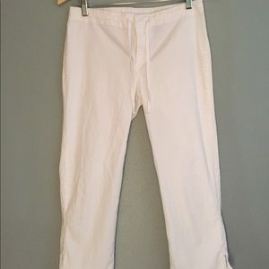 Express Jeans Stretch white capris