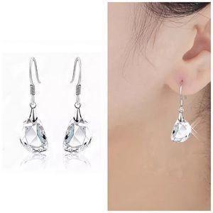 Jewelry - ✨New! Crystal Clear Drop Earrings