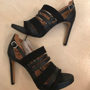 H&M black strapping heels