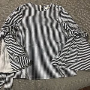 NWT Stripes charisma top with bell sleeves