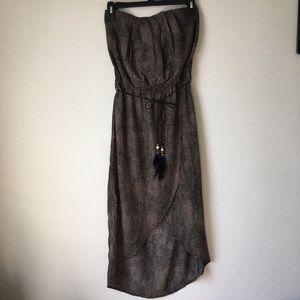 Dresses & Skirts - Animal Print Strapless Maxi Dress
