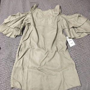 NWT Zara cold shoulder dress