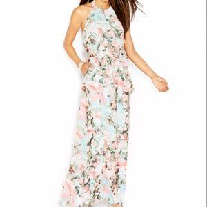NWT Jessica Simpson Blue Halter Floral Print Dress