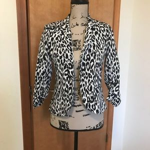 Sparkle & Fade Leopard Print Blazer Size Small