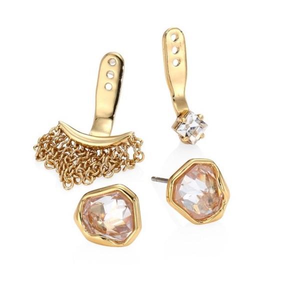 7a4c7f162 Alexis Bittar Jewelry - NWOT Alexis Bittar Gold stud earring w/ jackets