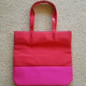 💄Lancome Large Shopper Tote Bag Pink Red Orange💄
