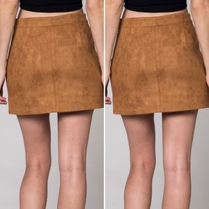 7b2974f9c6 Honey Punch Skirts - Honey Punch Suede Mini Skirt with Pockets