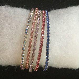 Jewelry - Swarovski crystal single strand bracelets