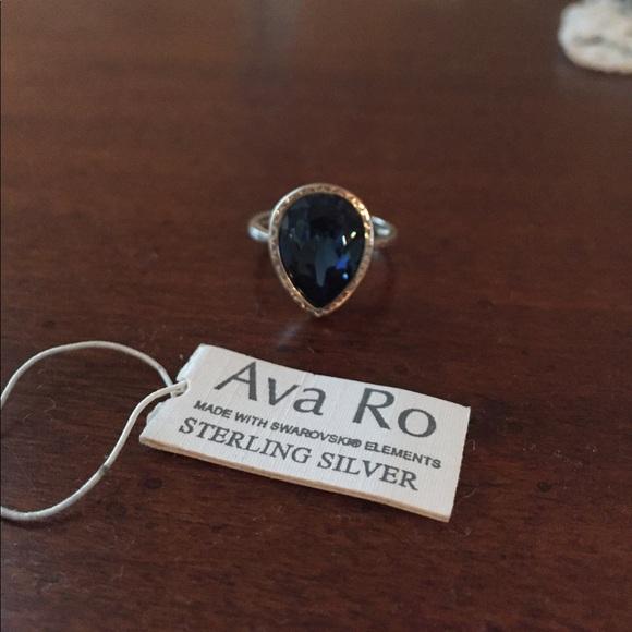 9584ba45a6f74 Silver crystal ring NWT