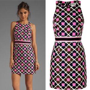 Milly Anna Tile Pink Sheath Dress