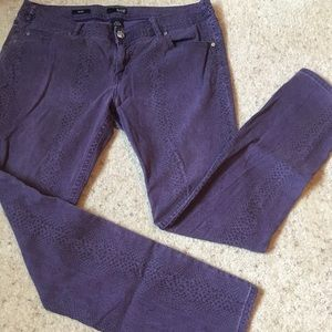 Purple Spotted Skinny Jean