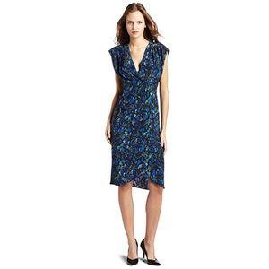 Rebecca Minkoff blousant silk wrap dress