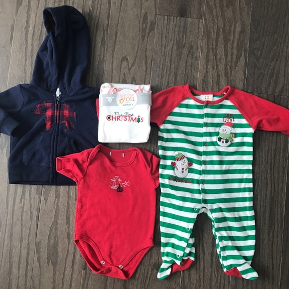 f5de95364ded Carter's One Pieces | Newborn Boy Carters Christmas Outfits | Poshmark