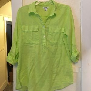 Lime green top/coverup