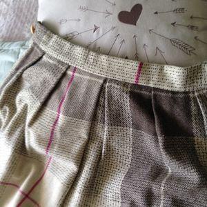 Vintage Diane Von Furstenberg Plaid Wool Skirt