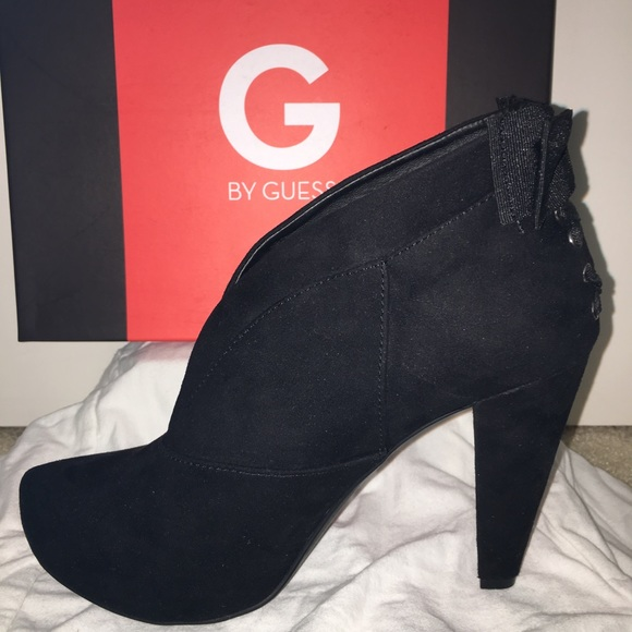 01a2ab80de8a Guess Shoes - Cute Guess black suede ankle booties 3