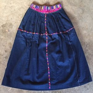 Vintage Hand Embroidered Skirt