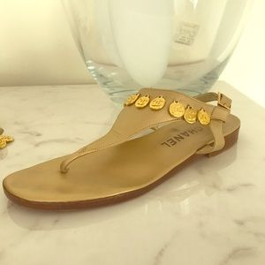 Chanel Coin Sandals