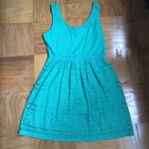 Dresses & Skirts - Teal lace dress