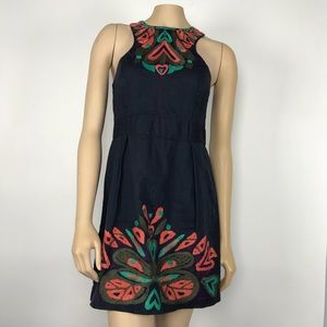 French Connection Embroidered Shift Dress