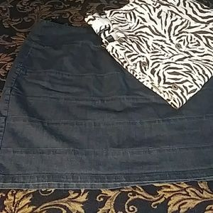 18W Denim Skirt