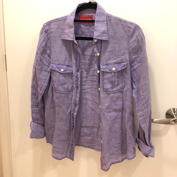 Jacks Company Tops - Purple linen long sleeve