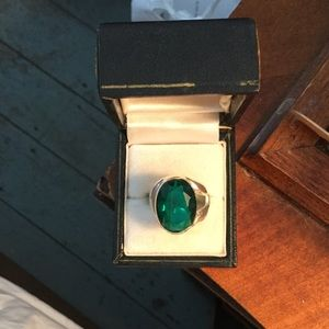 Jewelry - Brilliant green stone and sterling, 7