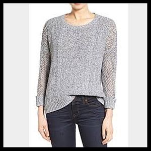 Madewell Marled Plaza Pullover Sweater