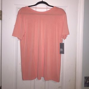 Coral backless American Apparel shirt