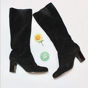 Women's Vintage 60s Mod GoGo Black Suede Boots
